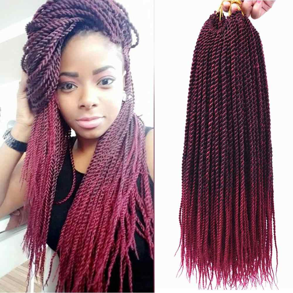 "Full Star 18"" Senegalese Twist Braids Hair Ombre Braiding Hair Synthetic Hair Extensions BlondeT613 Crochet Braids 30strands/lot"