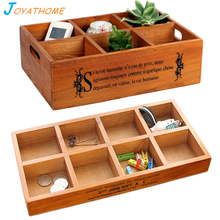 Japanese-Style 6 or 8 Grid Solid Wood Storage Box Groceries Nuts Holder Tray for Home Christmas and Wedding Gift