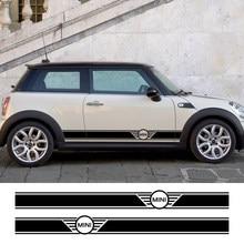 2Pcs Carro Longo Side Etiqueta Para Mini Cooper R56 R57 R58 R50 R52 R53 R59 R61 Compatriota R60 F60 F55 F56 F54 Acessórios Do Carro Tuning