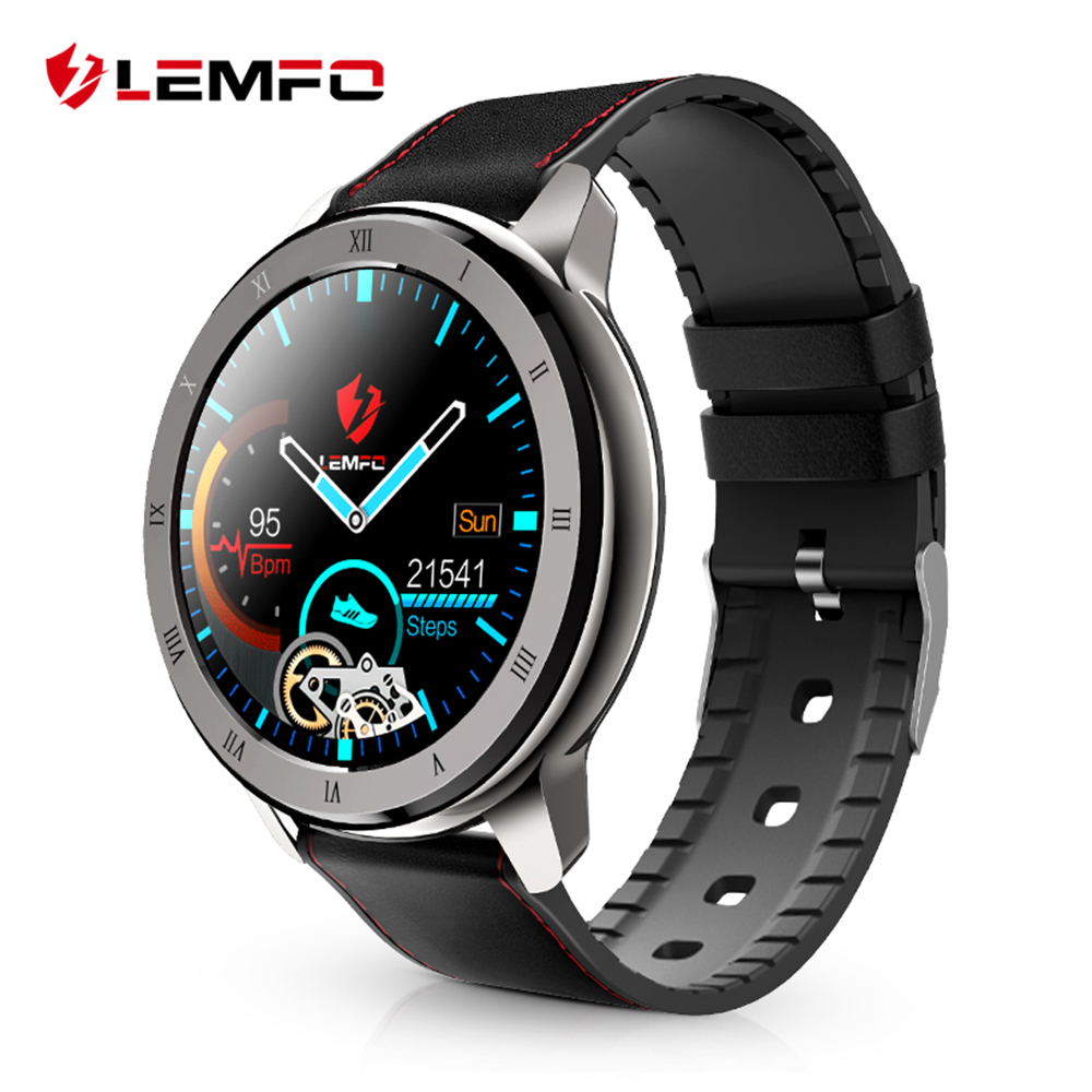 LEMFO ELF2 PPG + ECG Smart Watch Men Full Round Touch Screen 360*360 HD Resolution Stainless Steel Case Strap Replaceable|Smart Watches| |  - AliExpress