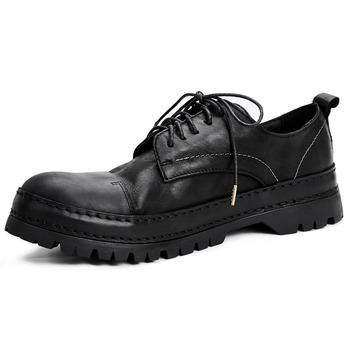 Zasznurować buty do biura męskie męskie luksusowe buty męskie buty designerskie męskie dorywczo mokasyny ze skóry naturalnej wysokiej jakości prawdziwej skóry tanie i dobre opinie 梵嵩 Skóra bydlęca Gumowe Lace-up Stałe Dla dorosłych Pasuje prawda na wymiar weź swój normalny rozmiar Oddychająca