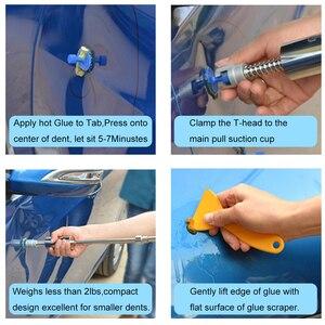 Image 5 - 8pcs רכב גוף דנט כלי להסרת תיקון פולר מסיר אבץ סגסוגת אטם יניקה כוס רכב גיליון מתכת תיקון כלים