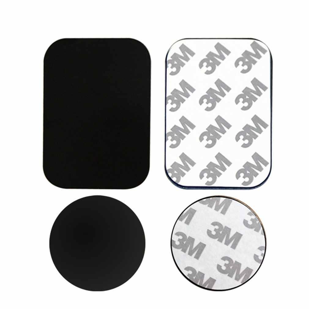 Disco de placa de Metal para soporte de teléfono para coche con imán, pegatina de hoja de hierro para soporte magnético para teléfono móvil, soporte de coche