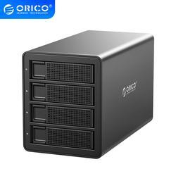 ORICO 35 Series 4 bay 3,5 ''USB3.0 a SATA con RAID HDD estación de acoplamiento HDD 150W adaptador de corriente interno Funda de disco duro