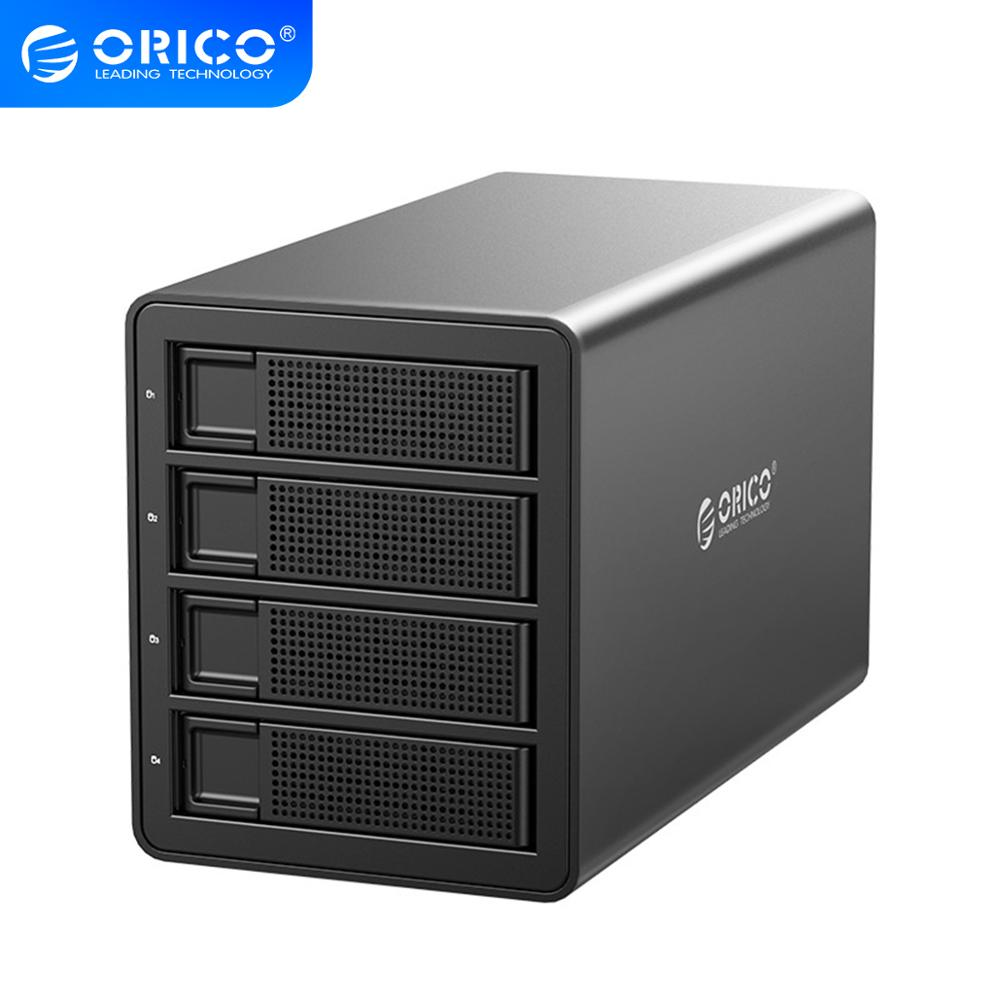 ORICO 35 Series 4 bay 3.5'' USB3.0 to SATA With <font><b>RAID</b></font> HDD Docking Station HDD <font><b>Enclosure</b></font> 150W Internal Power Adapter HDD Case image