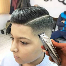Kemei 1949 — Tondeuse à cheveux électrique sans fil, outil professionnel en métal pour coiffeur avec un lame-T, belle finition et rasage à 0mm