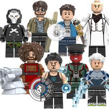 X0270 Crossbone Питер Паркер Kigpin красный череп LEGOED Мстители Marvel строительные блоки игрушки для детей