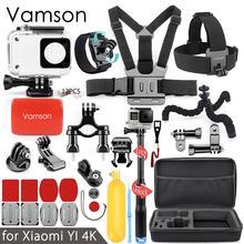 Vamson voor Xiaomi yi 4K Action camera Accessoires kit voor yi 2 Waterdichte Case Mount Gestippelde Textuur Monopod Selfie stok VS91