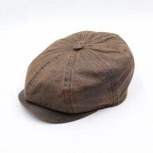 Классический ретро Newsboy шляпа Кепка для мужчин женщин Повседневная головной убор художника Плоские береты