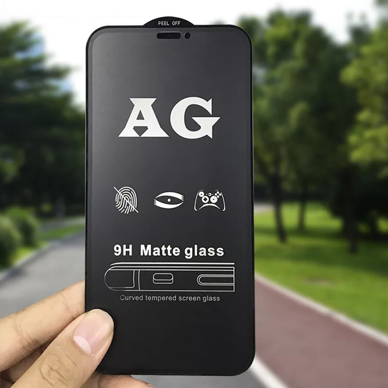 9H Frosted Full Cover Tempered Glass Matte Screen Protector for iPhone 11 Pro 2
