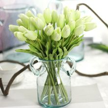 Artificial-Flower Gift Wedding-Decorative Real-Touch Mini Home 1pcs Tulip