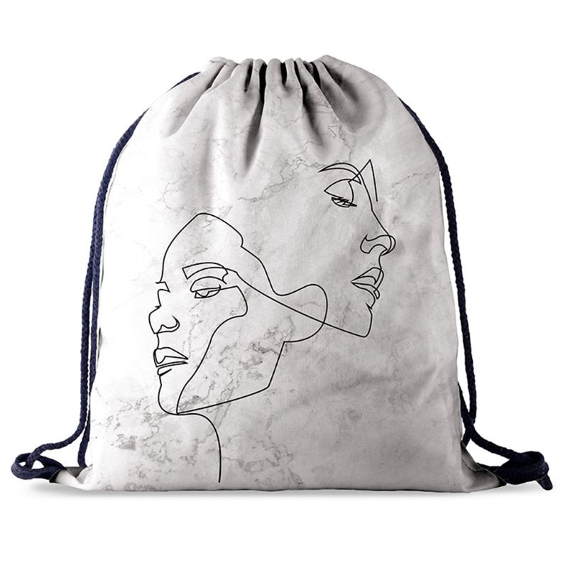Drawstring Bag Library Swimming Gym Backpack Travel Sports Daypack For Unisex