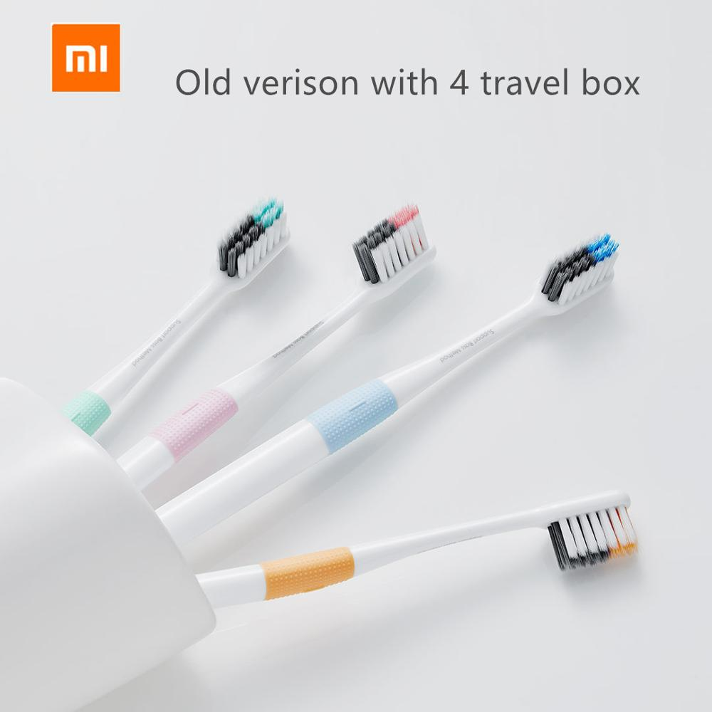 Original Xiaomi Mijia Doctor B Bass Method Tooth Brush 4 Colors/set Include Travel Box DR.BEI Deep Cleaning Toothbrush