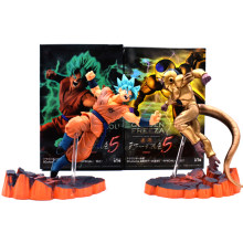 14-16 centímetros Anime Dragon Ball Z DBZ Frieza VS Son Goku PVC Action Figure Super Saiyan Goku Ouro frieza Brinquedo Modelo de Confronto(China)