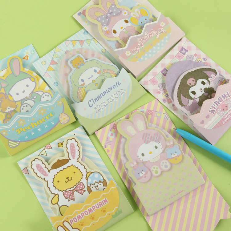 43% Japanese  Cartoon Cute Mini Message Note Book  Diary Book 4kinds  WJ01