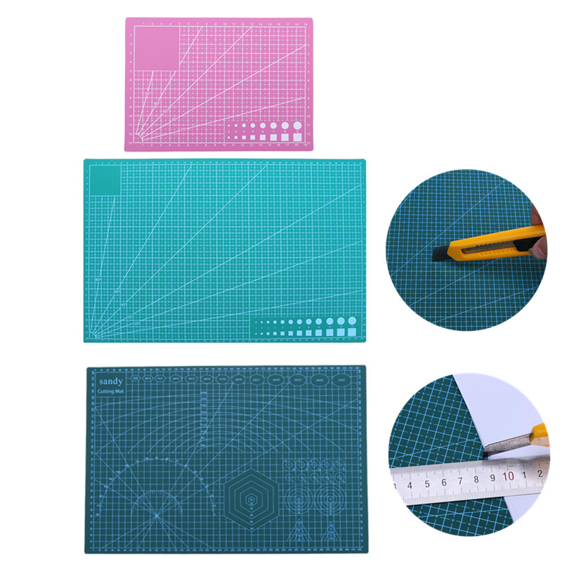 A3/A4/A5 PVC Double Side Self-healing Non Slip DIY Cutting Board Patchwork Mat Cutting Pad Splicing Manual DIY Ruler Tools Board