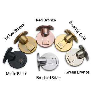 Image 3 - KAK Magnetic Door Stops 304 Stainless Steel Door Stopper Hidden Door Holders Catch Floor Nail free Doorstop Furniture Hardware