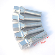 10pcs/lot Cone Seat 14x1.25 |40mm 45mm 50mm 55mm | Extended Car wheel Lug Bolts For BMW
