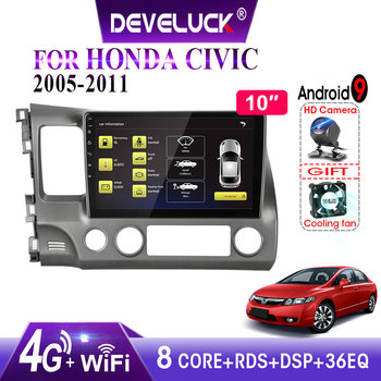 цена на Android 9.0 8-core Car Radio For Honda Civic 2005-2011 4G 2.5D Screen 2din stereo RDS DSP+48EQ GPS Navigation Multimedia Player