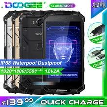 Transporte rápido doogee s60 lite telefone áspero ip68 waterpoof dustproof telefone móvel sem fio 5580mah 4gb 32gb nfc smartphone