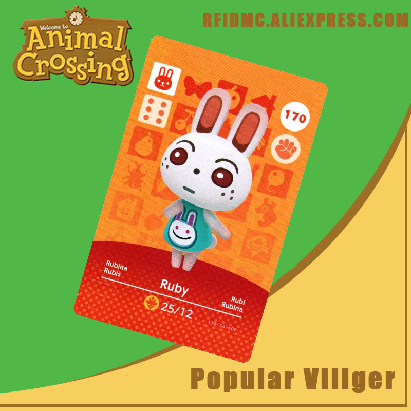 170 Ruby Animal Crossing Card Amiibo For New Horizons