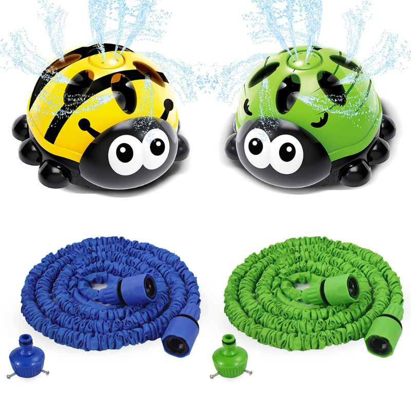 Outdoor Water Spray Sprinkler For Kids Backyard Spinning Ladybug Sprinkler Toy For Toddlers Attaches To Standard Garden Hose