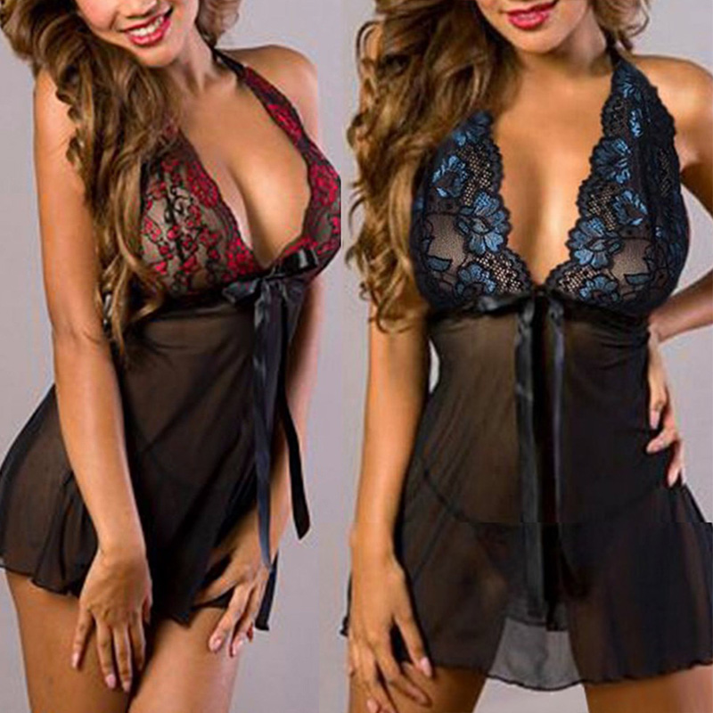 Woman Lingerie Hot Sexy Lace Dress Babydoll Erotic Underwear Porno Lenceria Sexi Transparent Lingerie Exotic Apparel Plus Size