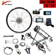 Bafang 36V 350W E-Bike Conversie Kit Met Batterij 10A 12A Bagagedrager Elektrische Fiets Kit 26