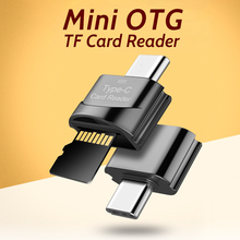 USB Type-c TF Card Reader Micro Usb OTG Adapter Read Max 512GB For Mobile Phone Usb C Laptop Metal OTG Connector