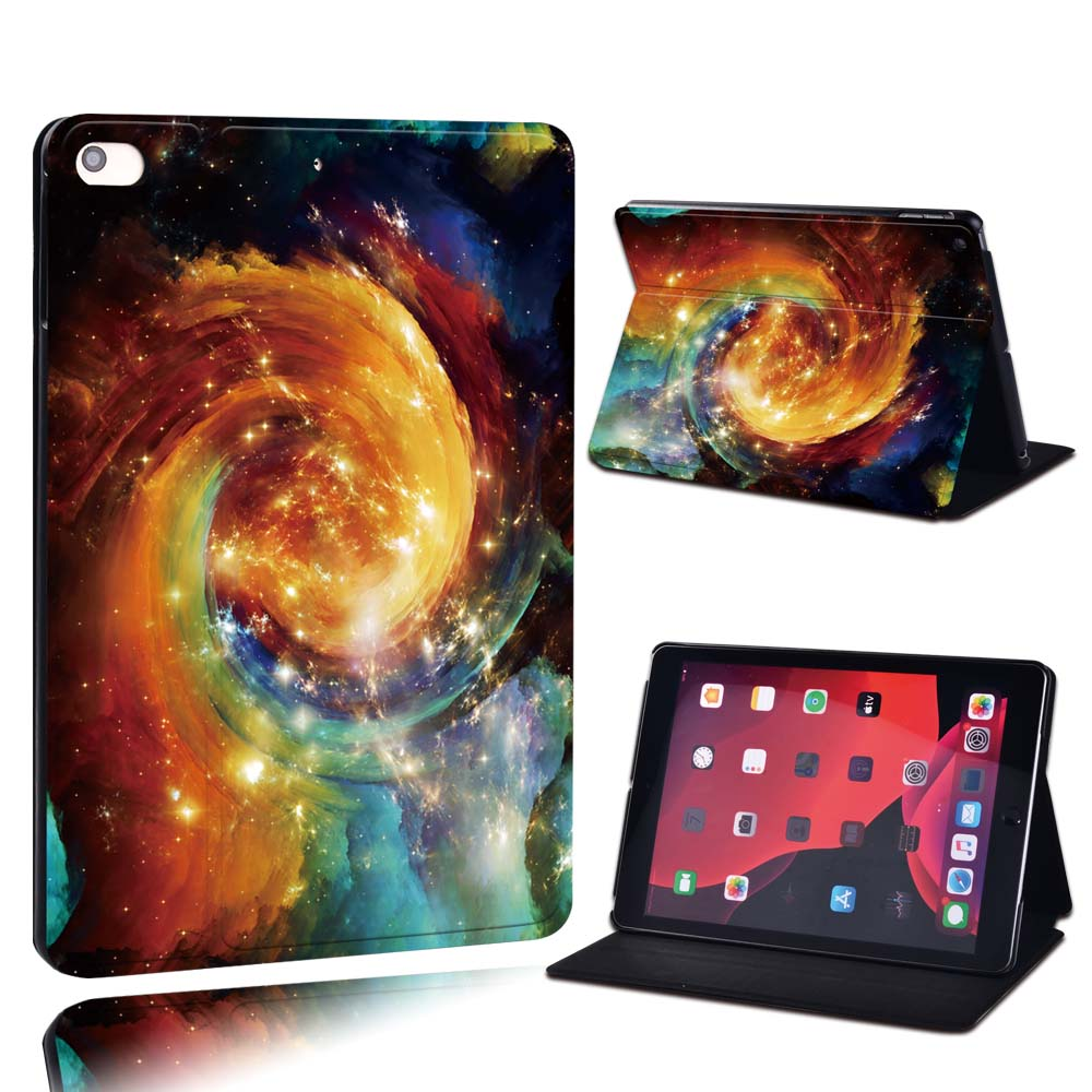 7.gold nebula Purple For Apple iPad 8 10 2 2020 8th 8 Generation A2428 A2429 PU Leather Tablet Stand