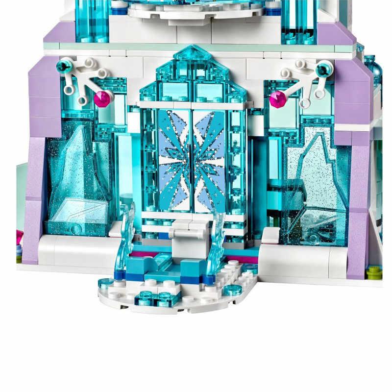 אלזה קסום קרח ארמון אלזה אולף קרח שלג נסיכת טירת הילדה סט Lepining בלוקים תואם Frozeningly 2 חברים 41148