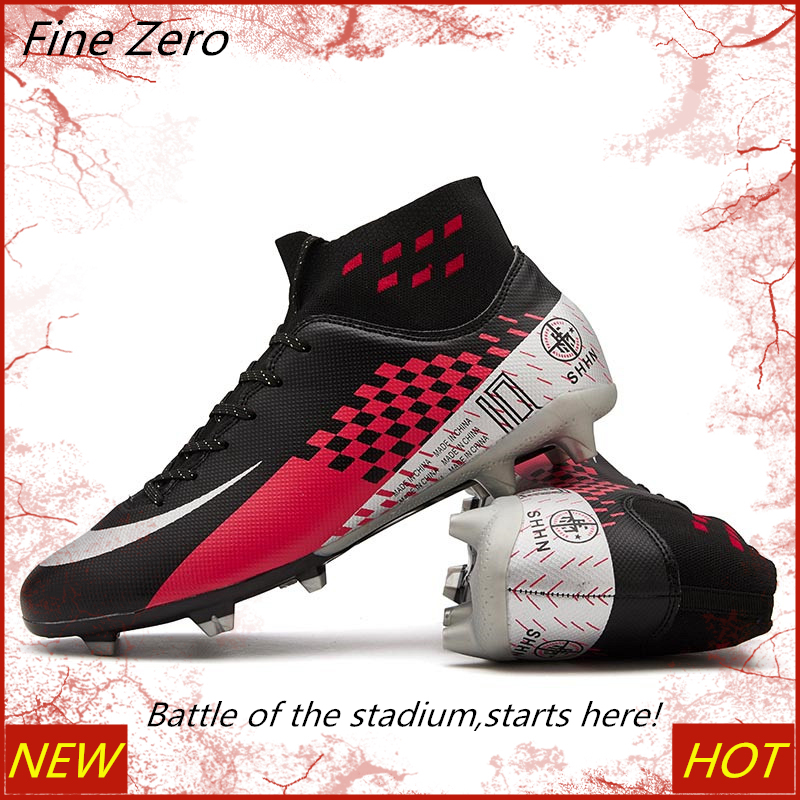 New Adult Kids Soccer Cleats Football Shoes TF/FG Hard Court Sneakers Soccer Cleats Men Training Football Sneakers Dropshipping Soccer Shoes     - title=