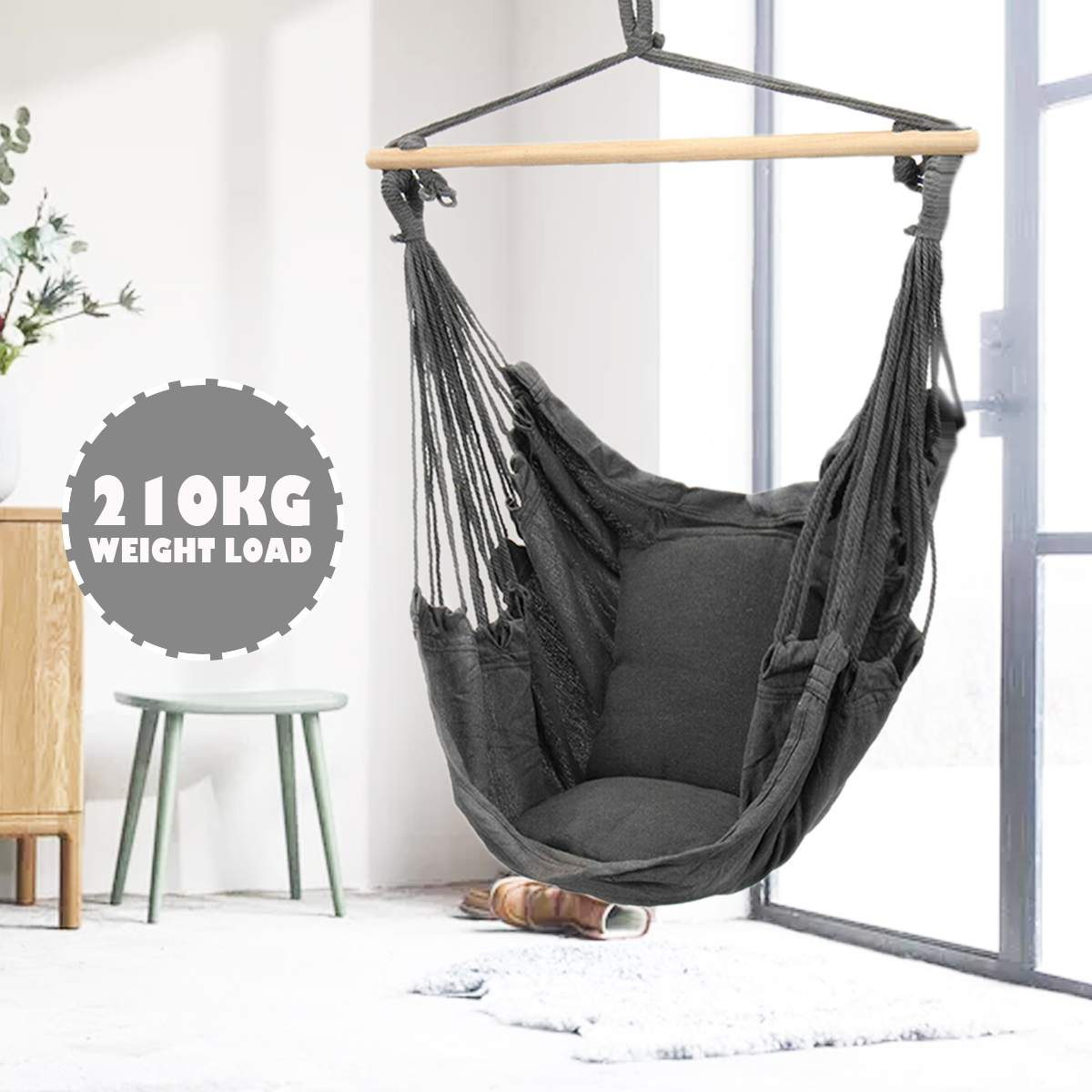 Hammock Chair Outdoor Indoor Dormitory Bedroom Yard For Child Adult Swinging Hanging Single Safety Chair Hammock