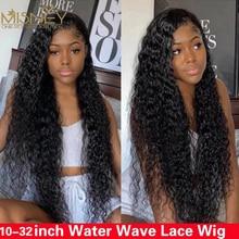 Perruque Lace Frontal Wig naturelle ondulée – Misney, cheveux humains, 13x4, pre-plucked, HD, pour femmes, livraison gratuite