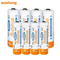 4 Uds AA batería recargable 2200mah Ni-MH 1,2 v baterías + 4 Uds AAA 1000mah batería recargable 1,2 v para linterna