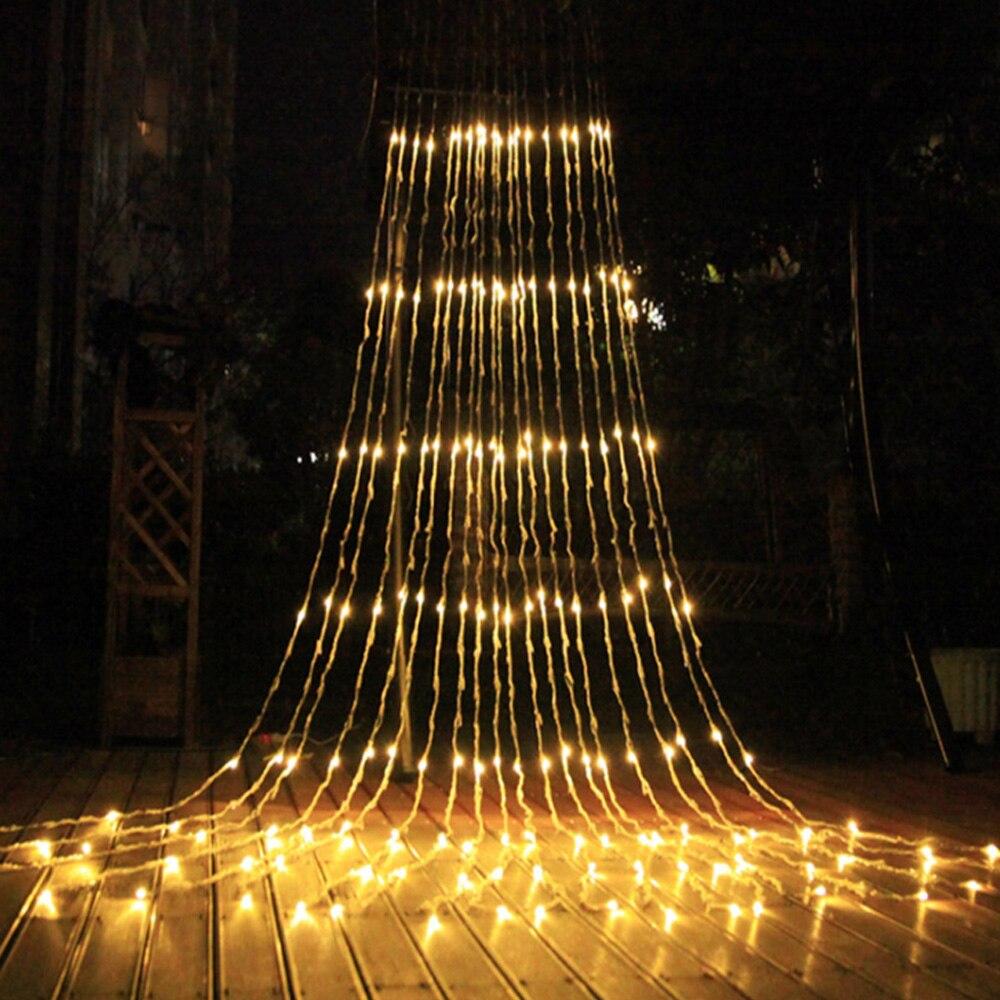 3X3/6X3M Waterfall Curtain Icicle String Light Meteor Shower Rain Fairy String Lighting Christmas Wedding Fairy Garland