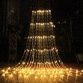 3x3/6x3 m cachoeira cortina icicle luz da corda chuva chuva chuva fadas cordas iluminação natal casamento guirlanda de fadas