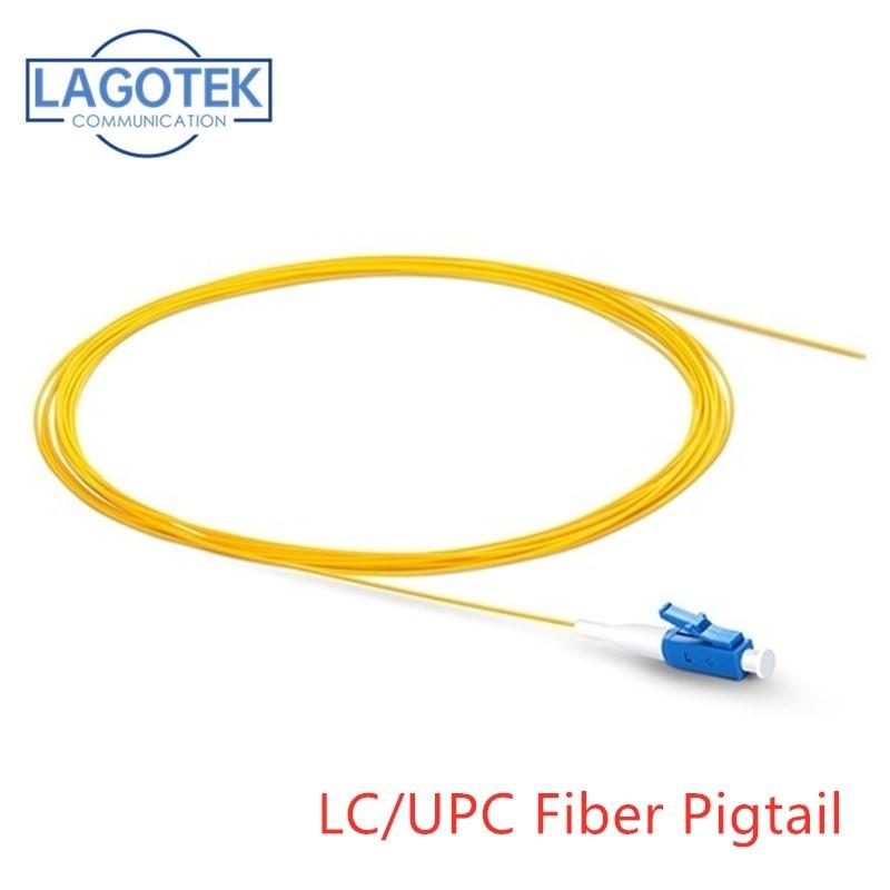 Simplex LC/UPC 9/125 Single Mode Fiber Optic Pigtail, 0.9 mm PVC Outer Jacket 1.5M