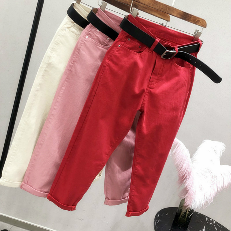 Boyfriend Jeans For Women High Waist  Harem Jeans Spring Summer Mom Jeans Streetwear Ankle-Length Denim Pants Vaqueros Mujer