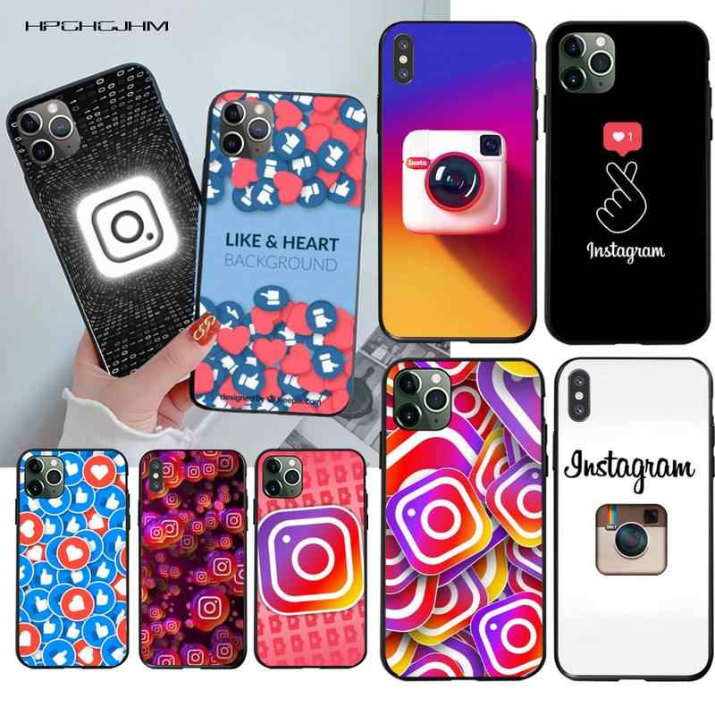HPCHCJHM Instagram TPU Soft Silicone Phone Case Cover for iPhone 11 pro XS MAX 8 7 6 6S Plus X 5S SE 2020 XR case