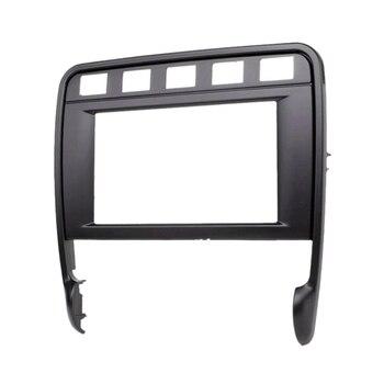 Double Din Car Radio Facia Stereo Fascia Panel Frame DVD Dash Installation Surrounded Trim Kit for P O R S C H E Cayenne Turbo 2