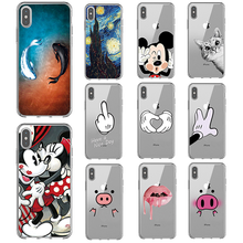 Transparent silicone soft TPU For iphone 7 Case Shell Cover For Apple iPhone 5 5s se 6s 6 s 7 8 plus xs max x xr Bags Funda transparent imd skin soft tpu shell for iphone se 5s 5 butterfly and flower