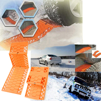 2pcs/set Trucks Snow Chains For Wheels Car Foldable Anti skid Plat Mud Tires Protection Chain Automobiles Roadway Safety