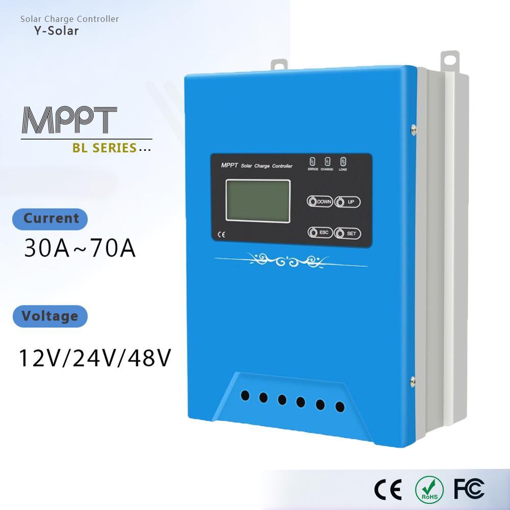 MPPT BL-30A 40A 50A 60A 70A Solar Charge Controller 12V 24V 48V Battery Charger Mobile Device Modules Solar Panel PV Regulator