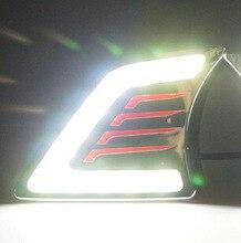 цена на Car 1Pair DRL For TOYOTA HILUX VIGO CHAMP 2012 2013 2014 Daytime Running Light car styling Fog Lamp 12V