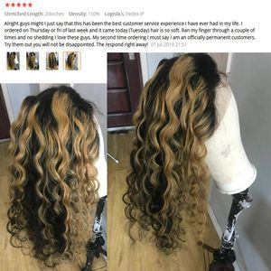 Image 5 - Ombre Highlight Color Lace Front Human Hair Wigs with Baby Hair 13x4 Pre Plucked Hairline Remy Brazilian Wavy Hair dream beauty