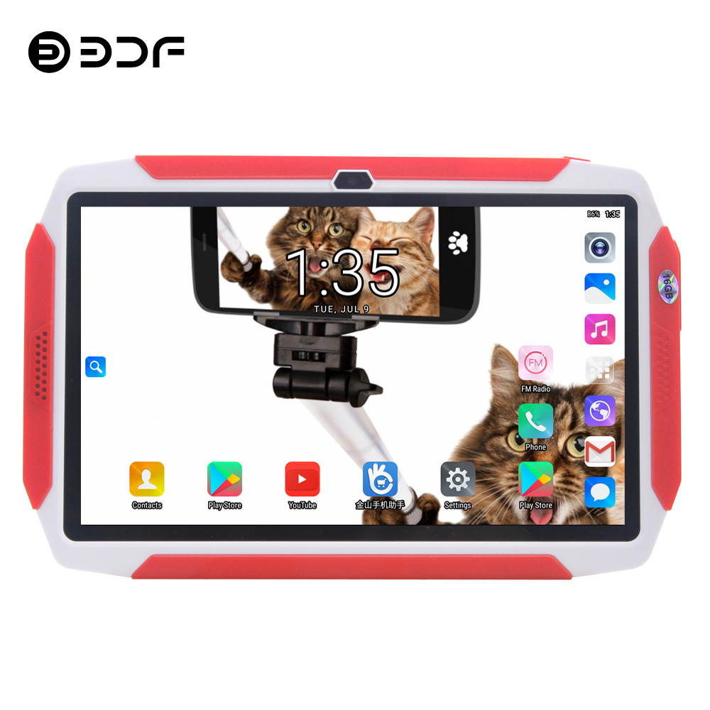 BDF Kids Tab 7 Inch Original Android 8.0 Tablet Pc WiFi 1GB/16GB Tablets Quad Core TFT LCD Display Screen 7 8 9 10 Inch Tablet