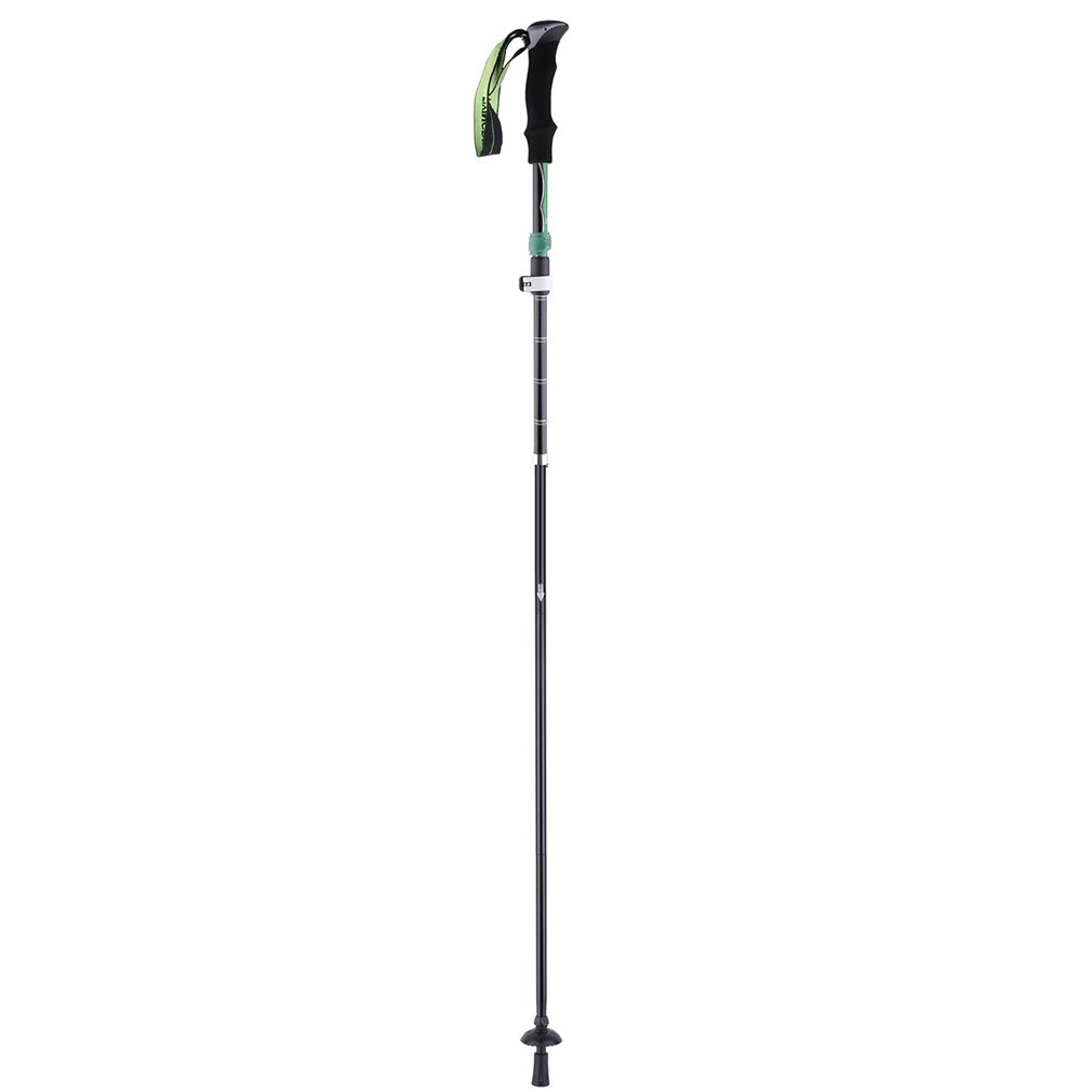 Portable Aviation Aluminum Alloy Walking Stick Folding Z Shape Hiking Stick With External Lock Camping Accessories