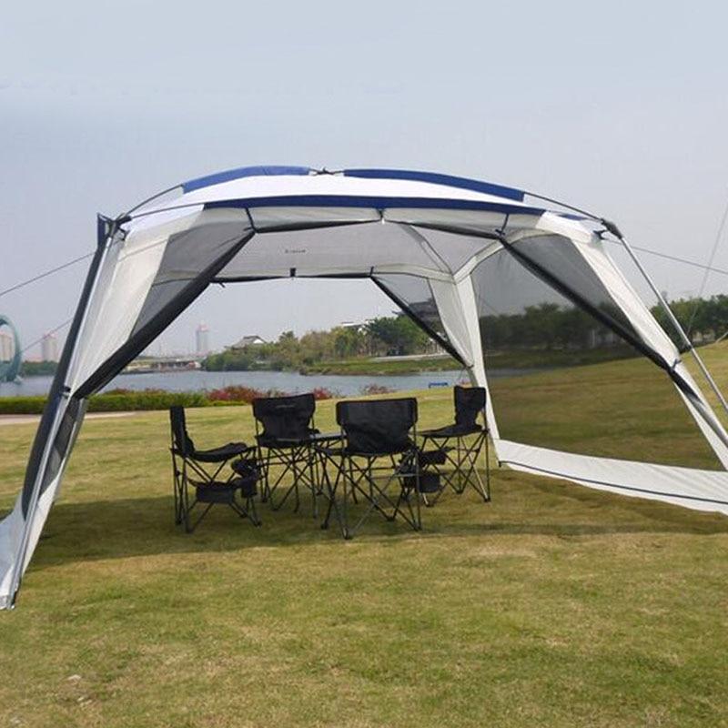 Outdoor Pergola Camping Sunshade Portable Folding Beach Canopy Rainproof Tent