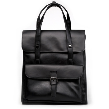 Leather Large Handle Laptop Backpacks Casual bag